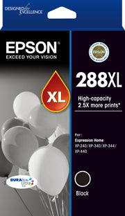 Epson 288XL Black DURABrite ink, XP-240, XP-340, XP-344, XP-440