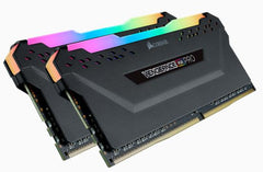 Corsair VENGEANCE RGB PRO DDR4, 2666MHz 16GB 2 x 288 DIMM, Unbuffered, 16-18-18-35