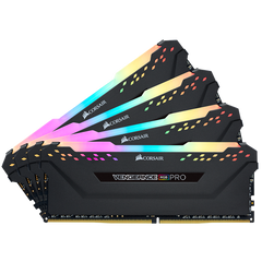 Corsair VENGEANCE RGB PRO DDR4, 3200MHz 32GB 4 x 288 DIMM, Unbuffered, 16-18-18-36
