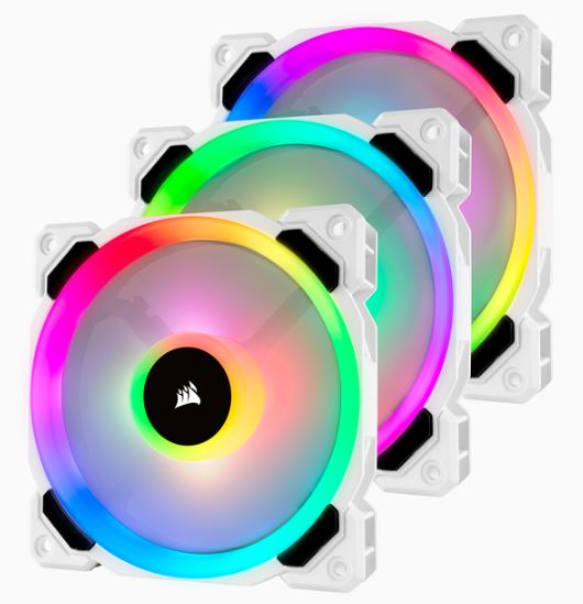 LL120 RGB White Triple Fan Kit with Lighting Node PRO