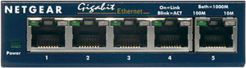 Netgear NTGGS105,5-Port Gigabit Ethernet Switch- 5 years Warranty