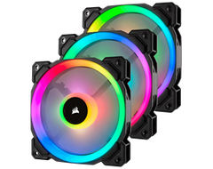 Corsair LL Series, LL120 RGB, 120mm Dual Light Loop RGB LED PWM Fan, 3 Fan Pack with Lighting Node PRO