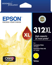 Epson 312XL Yellow Ink Claria Photo HD,  XP-8500, XP-15000