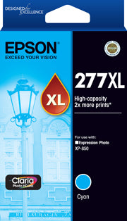 Epson 277XL High Capacity Claria Photo HD Cyan ink