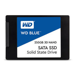 Western Digital WD Blue 3D NAND SSD, 2.5 Form Factor, SATA Interface, 250GB, CSSD Platform, 3Yr Warranty