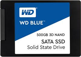 Western Digital WD Blue 3D NAND SSD, 2.5 Form Factor, SATA Interface, 500GB, CSSD Platform, 3Yr Warranty