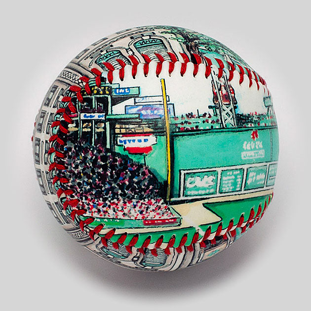 Buy 100-Year Anniversary Baseball: Fenway Park Collectible • Hand-Painted, Unique Baseball Gifts by Unforgettaballs®