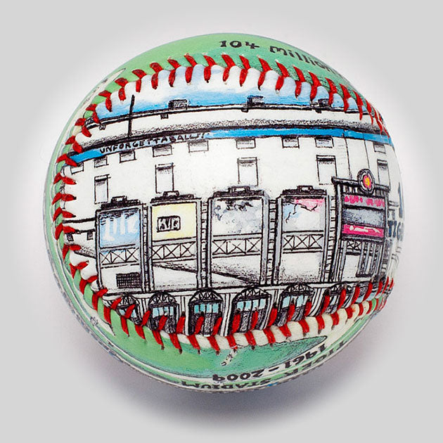 Buy 100-Year Anniversary Baseball: Tiger Stadium Collectible • Hand-Painted, Unique Baseball Gifts by Unforgettaballs®