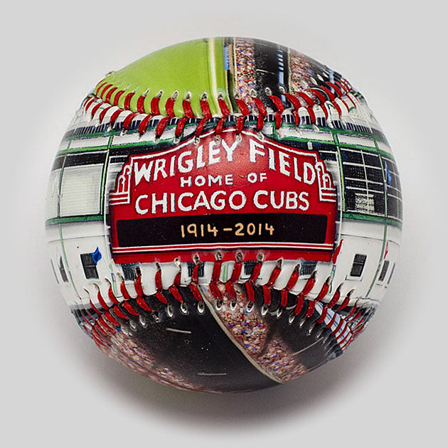 Buy 100-Year Anniversary Baseball: Wrigley Field Collectible • Hand-Painted, Unique Baseball Gifts by Unforgettaballs®