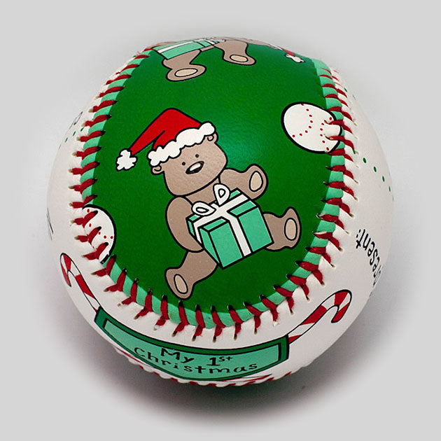 Buy Baby's First Christmas Baseball Collectible • Hand-Painted, Unique Baseball Gifts by Unforgettaballs®