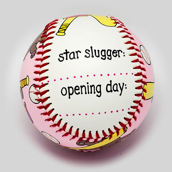 Buy Baby's First Baseball (Girl) Collectible • Hand-Painted, Unique Baseball Gifts by Unforgettaballs®
