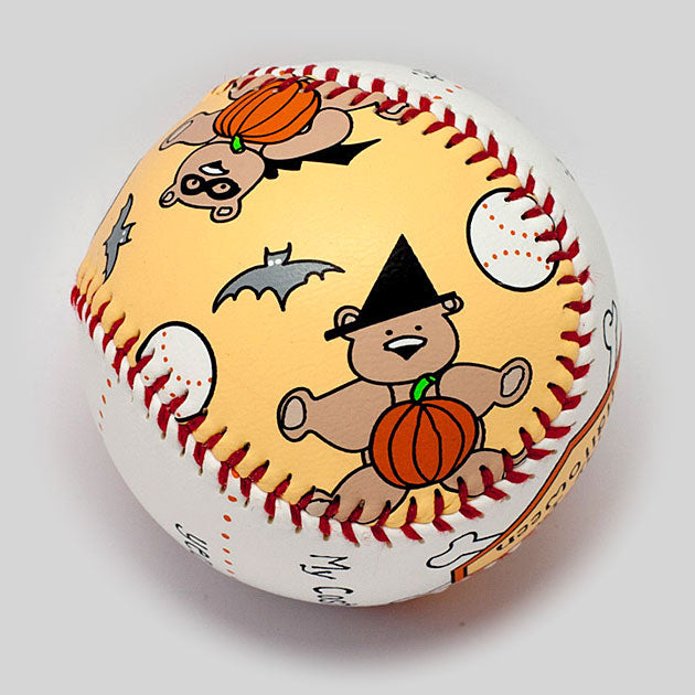 Buy Baby's First Halloween Baseball Collectible • Hand-Painted, Unique Baseball Gifts by Unforgettaballs®