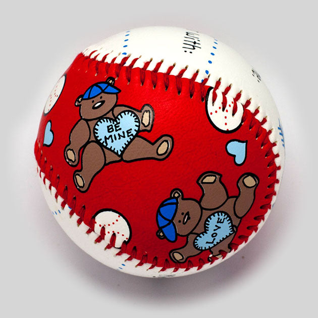 Buy Baby's First Valentine's Day Baseball Collectible • Hand-Painted, Unique Baseball Gifts by Unforgettaballs®