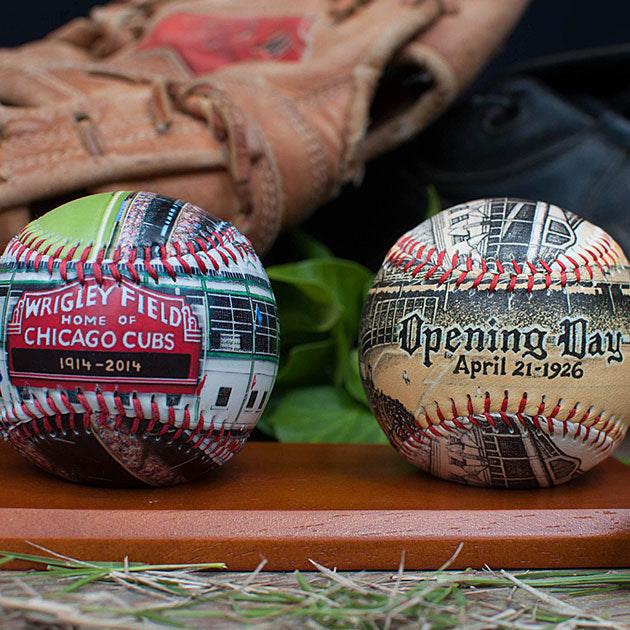 Buy 2-Ball Wooden Stand for Baseballs Collectible • Hand-Painted, Unique Baseball Gifts by Unforgettaballs®