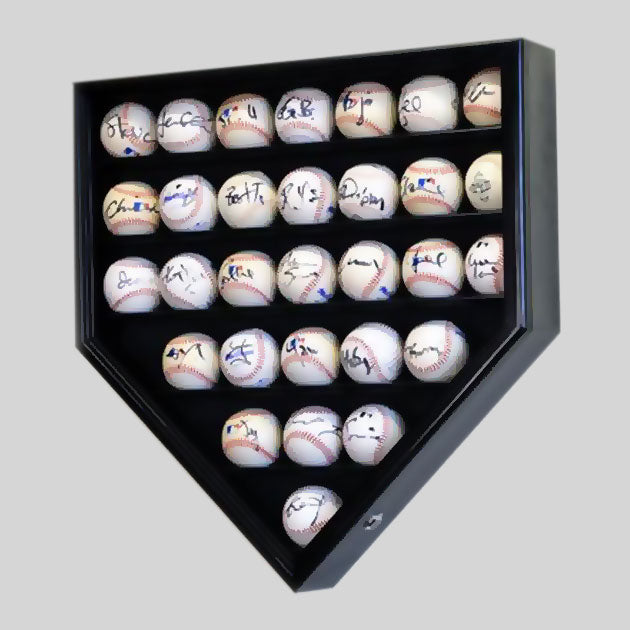 Buy 30-Baseball Display Case, UV Protection, Lockable Collectible • Hand-Painted, Unique Baseball Gifts by Unforgettaballs®