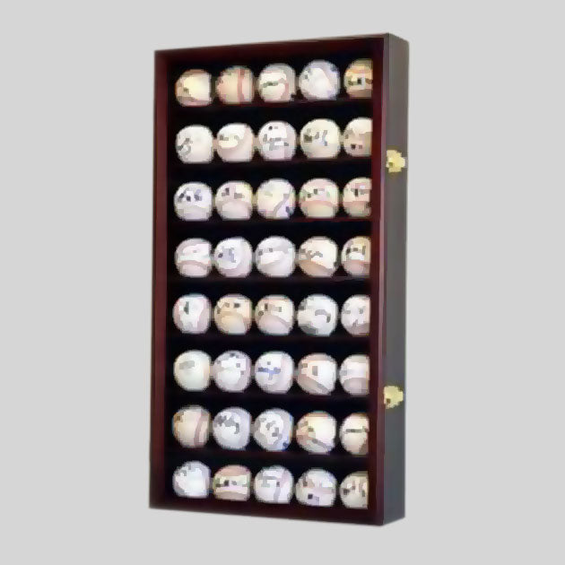 Buy 40-Baseball Display Case, UV Protection, Lockable Collectible • Hand-Painted, Unique Baseball Gifts by Unforgettaballs®