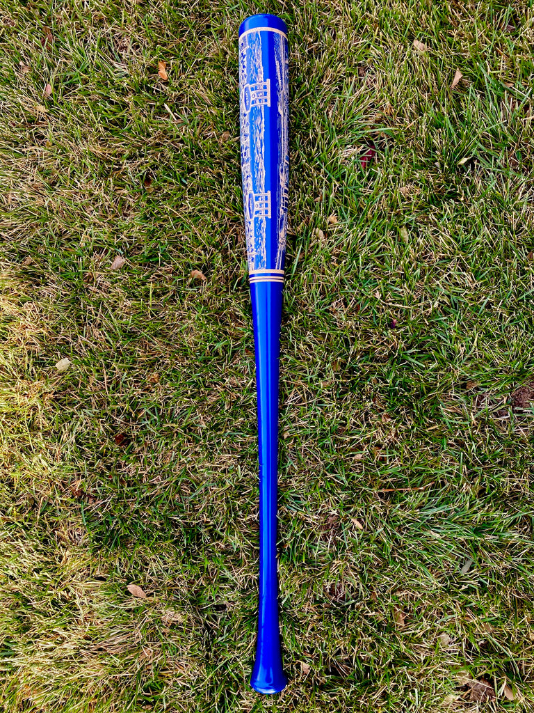 Dodger Stadium Engraved Bat- BLUE
