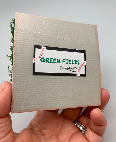 Green Fields- turf display for one baseball