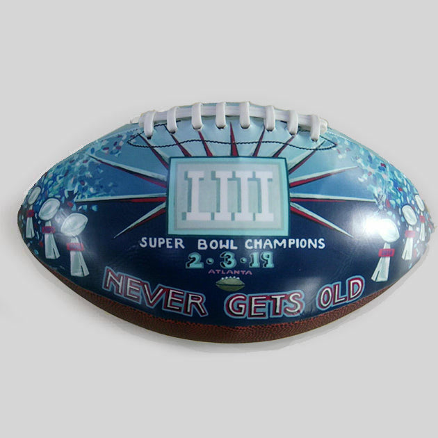 Buy New England Patriots Super Bowl Champions 2019 Commemorative Football **preorder-ships 6/1/19** Collectible • Hand-Painted, Unique Baseball Gifts by Unforgettaballs®