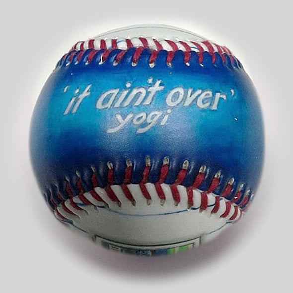 Buy Commemorative Baseball: It Ain't Over Collectible • Hand-Painted, Unique Baseball Gifts by Unforgettaballs®