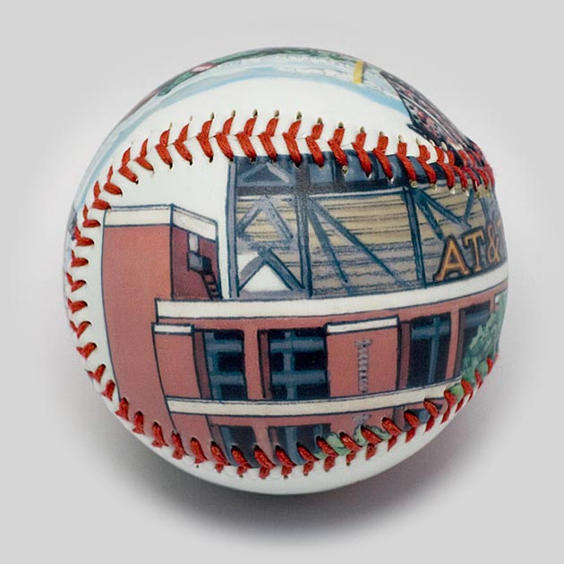 Buy AT&T Park Baseball Collectible • Hand-Painted, Unique Baseball Gifts by Unforgettaballs®