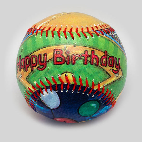 Buy Happy Birthday Baseball Collectible • Hand-Painted, Unique Baseball Gifts by Unforgettaballs®