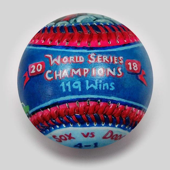 Buy World Series Win Baseball: 2018 Red Sox Collectible • Hand-Painted, Unique Baseball Gifts by Unforgettaballs®