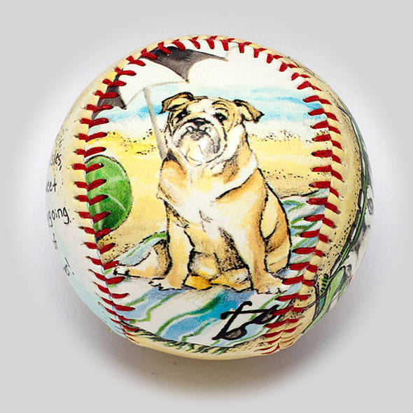 Buy Bulldog Baseball Collectible • Hand-Painted, Unique Baseball Gifts by Unforgettaballs®