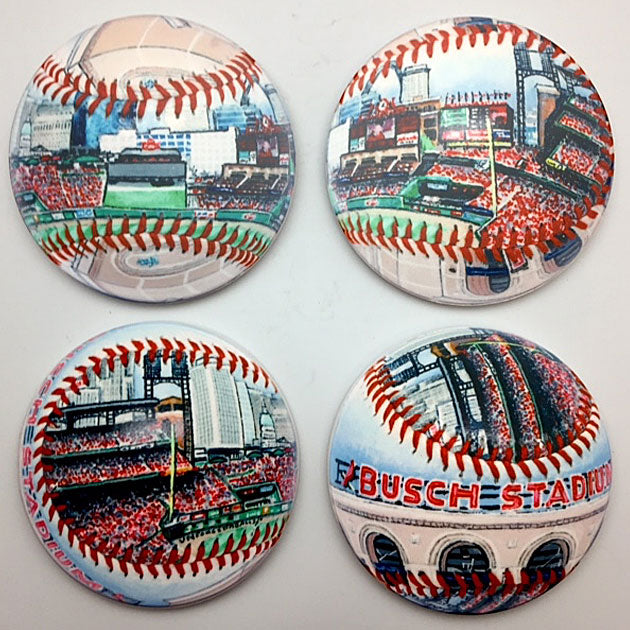 Buy Busch Stadium Coaster Set Collectible • Hand-Painted, Unique Baseball Gifts by Unforgettaballs®