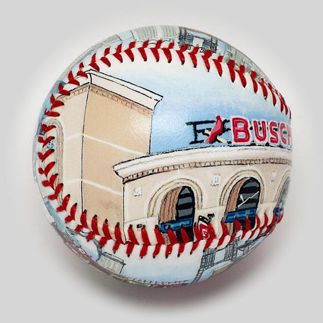 Buy Busch Stadium III Baseball Collectible • Hand-Painted, Unique Baseball Gifts by Unforgettaballs®