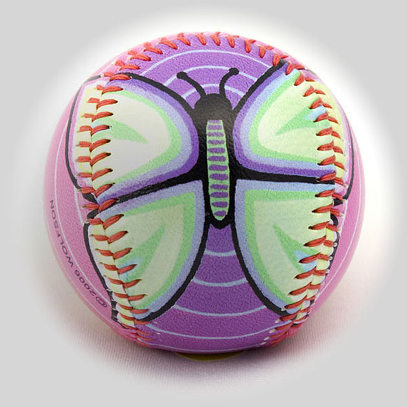 Buy Butterflies Baseball Collectible • Hand-Painted, Unique Baseball Gifts by Unforgettaballs®