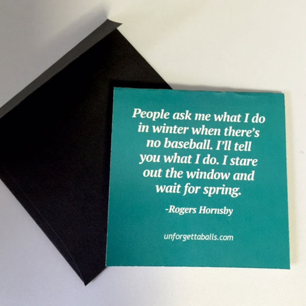 Buy Mini Quote Card Collectible • Hand-Painted, Unique Baseball Gifts by Unforgettaballs®