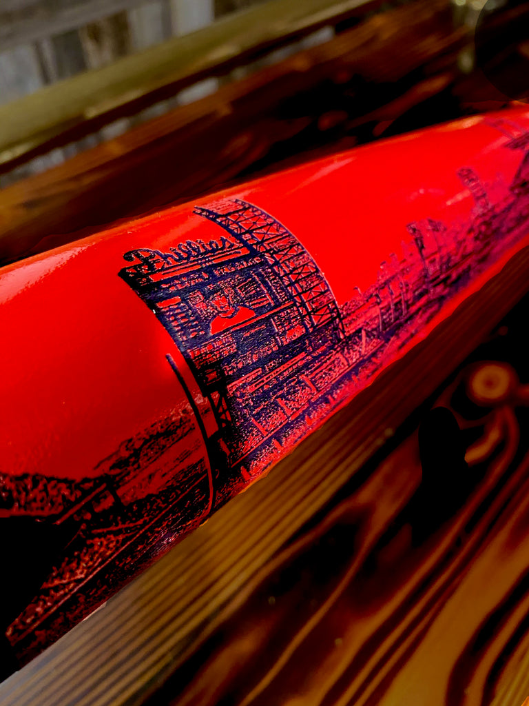 Citizens Bank Park Engraved Bat- RED