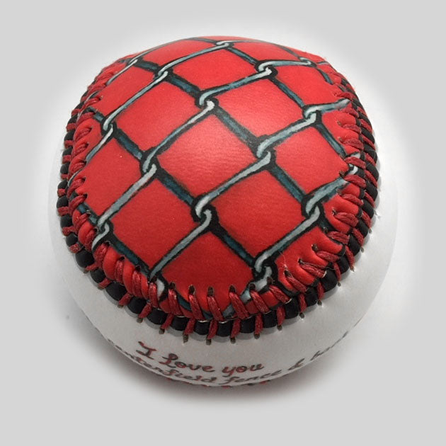Buy Centerfield Fence Baseball Collectible • Hand-Painted, Unique Baseball Gifts by Unforgettaballs®