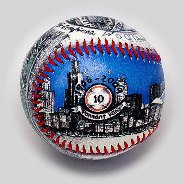 Buy Chicago Fan Gift Baseball Collectible • Hand-Painted, Unique Baseball Gifts by Unforgettaballs®