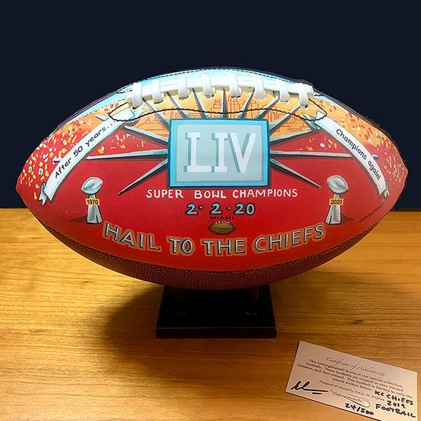 KC Chiefs 2020 Championship Commemorative Football