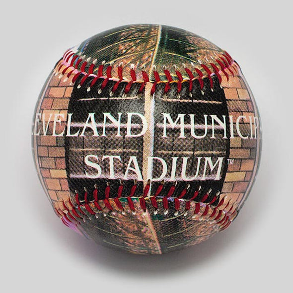 Buy Cleveland Municipal Stadium Baseball Collectible • Hand-Painted, Unique Baseball Gifts by Unforgettaballs®