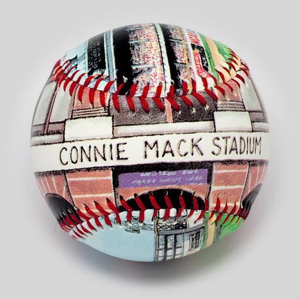 Buy Connie Mack Stadium Baseball Collectible • Hand-Painted, Unique Baseball Gifts by Unforgettaballs®