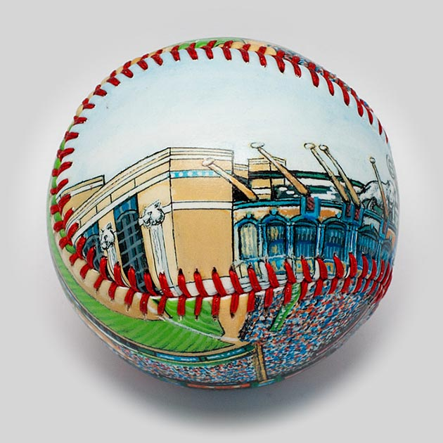 Buy Comerica Park Baseball Collectible • Hand-Painted, Unique Baseball Gifts by Unforgettaballs®