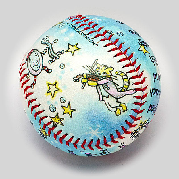 Buy Cow Jumped Over the Moon Collectible • Hand-Painted, Unique Baseball Gifts by Unforgettaballs®