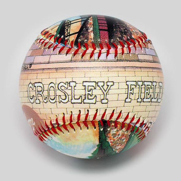 Buy Crosley Field Baseball Collectible • Hand-Painted, Unique Baseball Gifts by Unforgettaballs®