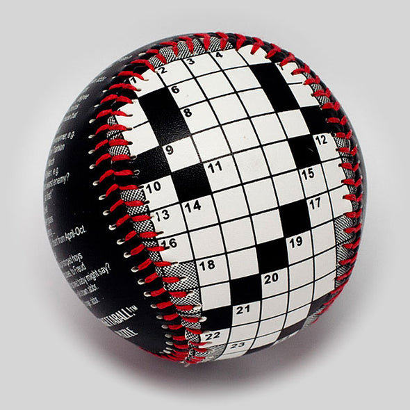 Buy Crossword Puzzle Baseball Collectible • Hand-Painted, Unique Baseball Gifts by Unforgettaballs®
