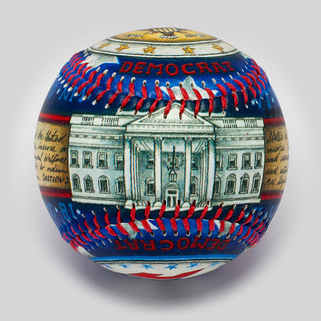 Buy The Democrat Baseball Collectible • Hand-Painted, Unique Baseball Gifts by Unforgettaballs®