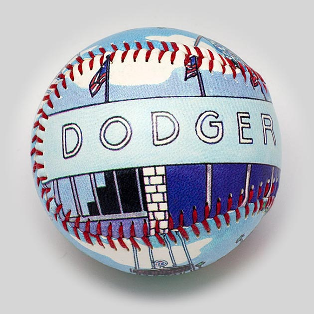 Buy Dodger Stadium Baseball Collectible • Hand-Painted, Unique Baseball Gifts by Unforgettaballs®