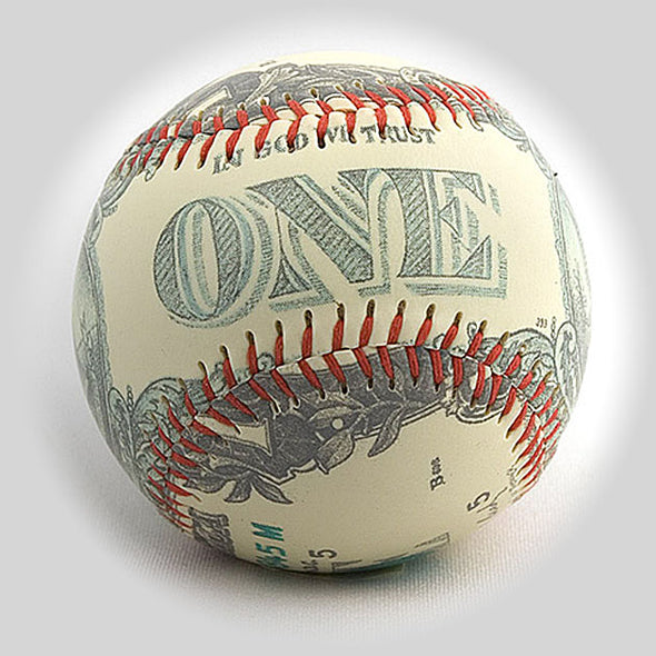 Buy One Dollar Bill Baseball Collectible • Hand-Painted, Unique Baseball Gifts by Unforgettaballs®