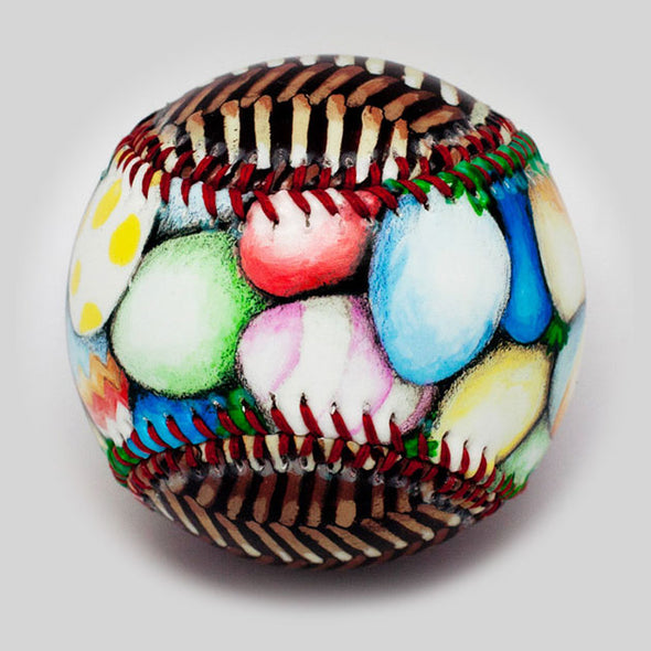 Buy Easter Basket Baseball Collectible • Hand-Painted, Unique Baseball Gifts by Unforgettaballs®