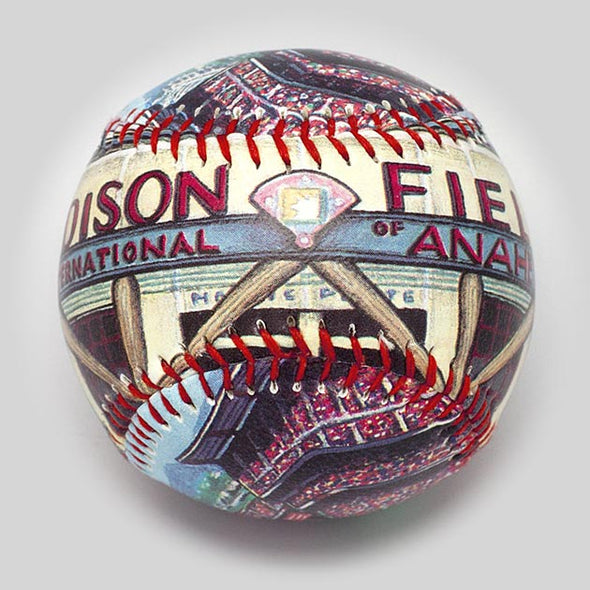 Buy Edison Field Baseball Collectible • Hand-Painted, Unique Baseball Gifts by Unforgettaballs®