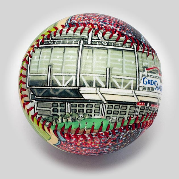 Buy Great American Ballpark Baseball Collectible • Hand-Painted, Unique Baseball Gifts by Unforgettaballs®