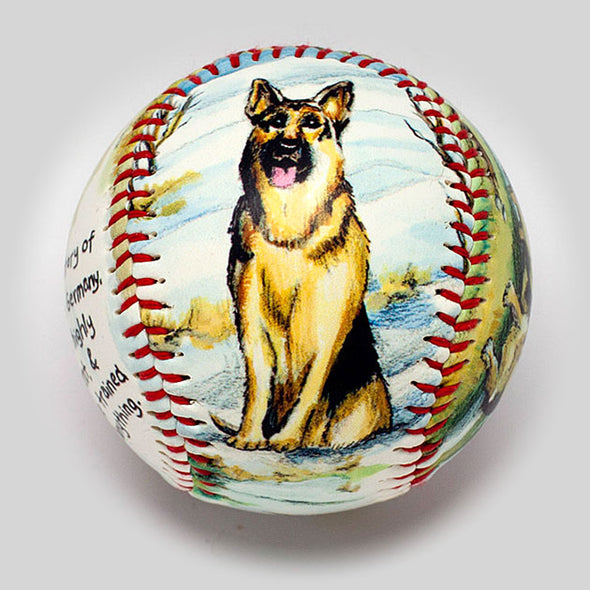 Buy German Shepherd Baseball Collectible • Hand-Painted, Unique Baseball Gifts by Unforgettaballs®