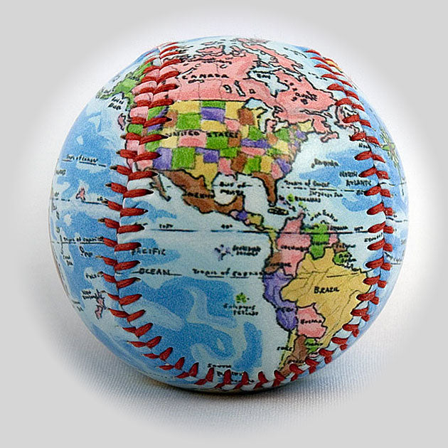 Buy New Globe Baseball Collectible • Hand-Painted, Unique Baseball Gifts by Unforgettaballs®